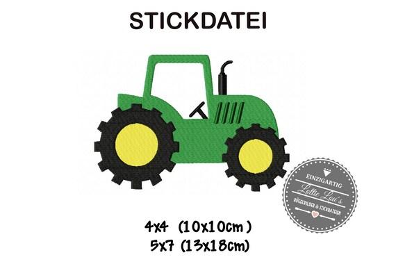 Embroidery file Farm Tractor Trekker 4x4 5x7