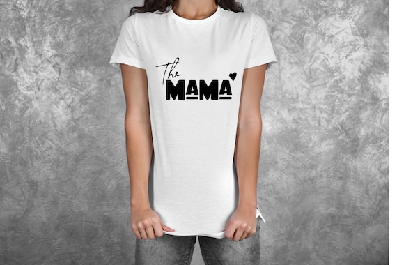 Bügelbild The Mama Mom  Mom Plott Muttertag  Statement Shirt