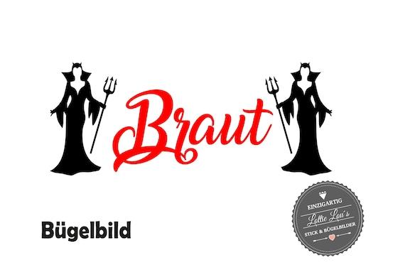 Iron On Bügelbild Braut Teufel Beste zum Schluss JGA  XXL