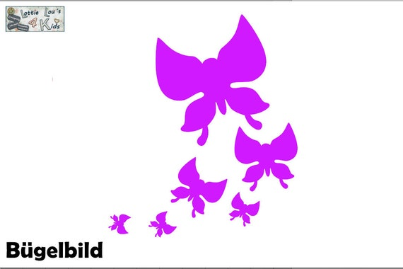 Iron on bow butterfly Butterfly Color--size