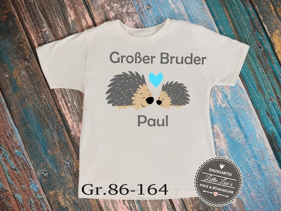 Iron on T-shirt body * Big Brother * Hedgehog
