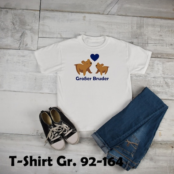 Iron on T-shirt/body Big Brother bear a. with name year