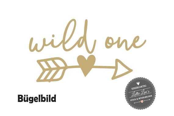 Bügelbild Wild One Pfeil mit Herz  zum ersten Geburtstag