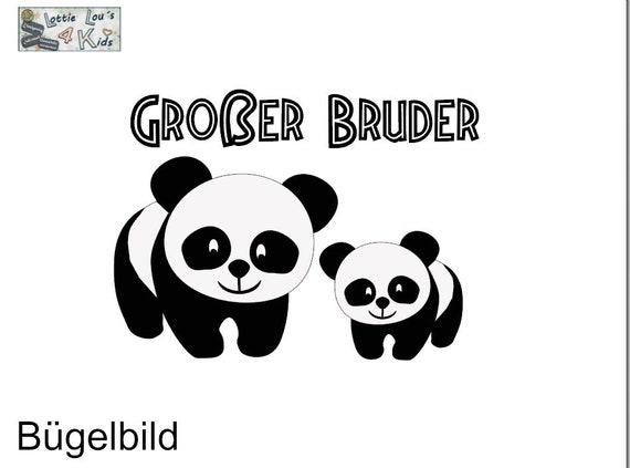 Iron on ironing board panda Big Brother