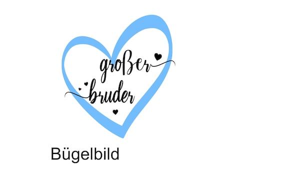 Bügelbild Geschwister Großer Bruder  Big Brother Bruder Sister Middle Sister Herz auch  mit Wunschnamen Statement Shirt