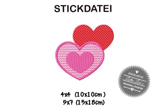 Stick File Heart Heart love love 4x4 5x7