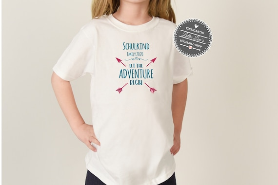 Iron On Ironing Picture SchoolChild 2020 Let the adventure begin with desired name and arrows