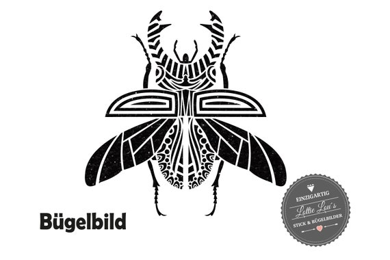Iron on Temple tribal beetle bug request color XXL