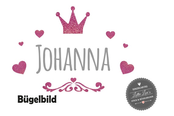 Personalized ironing image DIY wish name with crown hearts insurgent glitter Flock Effect Flex Individual Shirt