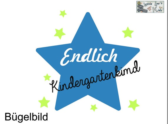 Ironing image Finally kindergarten child star wish color name
