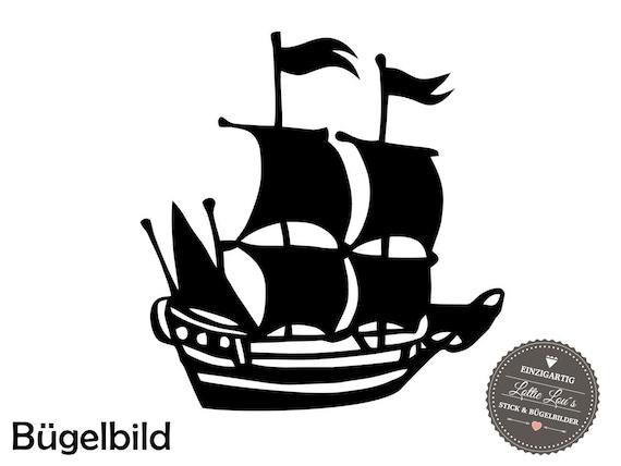 Iron on ironing board pirate ship ship Wish size