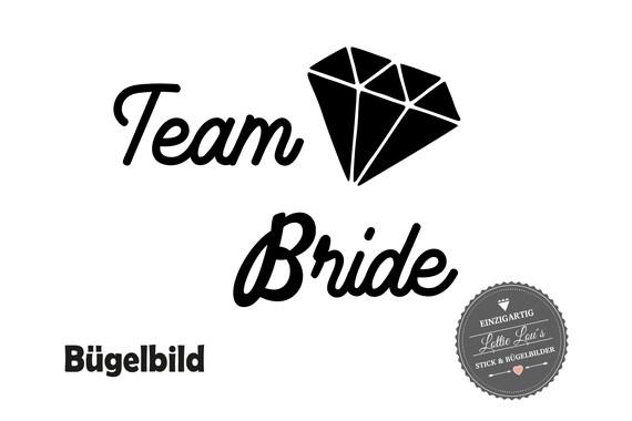 Bügelbild Team Braut Bride te amo tequila JGA Junggesellinenabschied