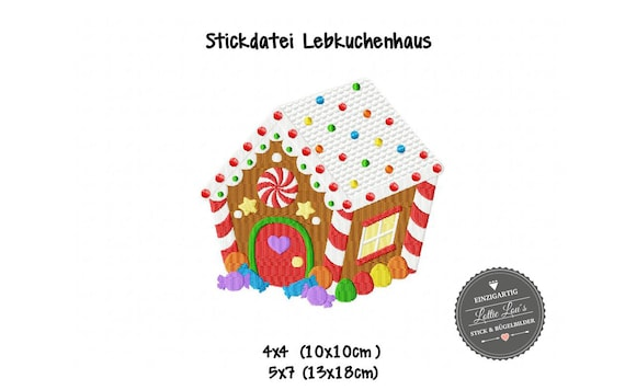 Embroidery file gingerbread house Christmas Christmas