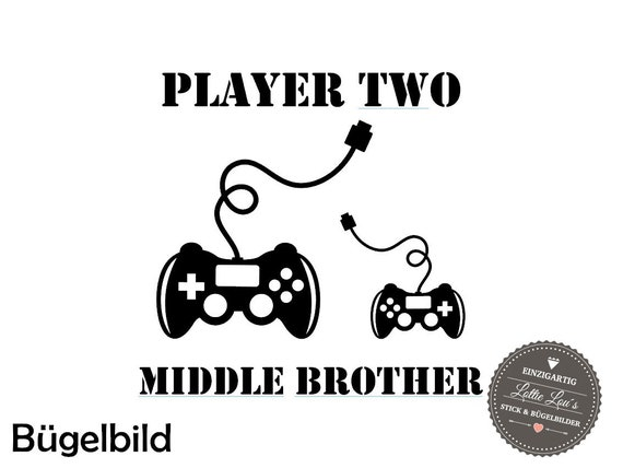Iron on Temple Middle brother Controller player two