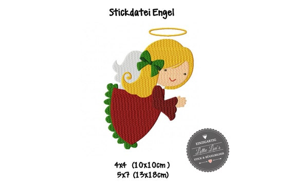 Embroidery file Christmas Angel Angel Christmas