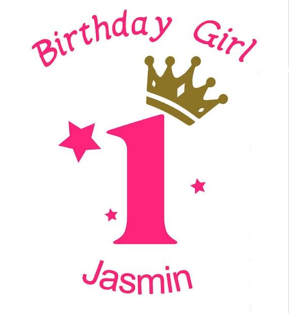 Bügelbild *Birthday Girl*  Zahl und WunschnameIron On