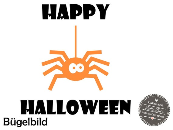 DIY Halloween spider spider Iron on appliqué glitter flock effect Flex