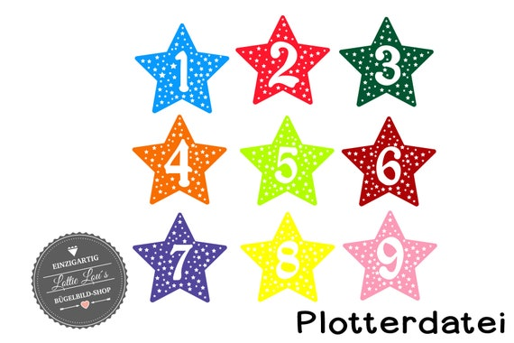 Plotters Birthday stars with number