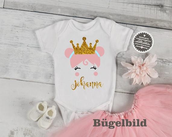 Iron On Ironing Picture Girl Princess Princess Princess Wish Name Flex Flock glitter Effect