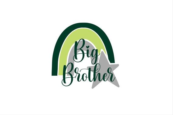 Bügelbild Geschwister Regenbogen Big Brother  Middle Sister Little Sister auch mit Wunschnamen / Jahr Statement Shirt