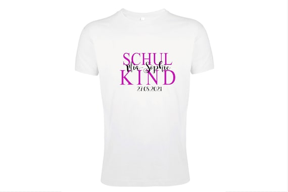 T-Shirt Schoolchild First class with name and date for enrollment