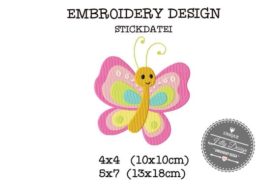Embroidery Design File Butterfly 4x4 5x7