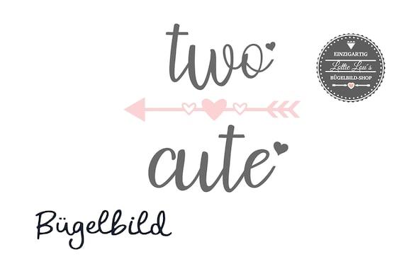 Bügelbild zum zweiten Geburtstag Two Cute
