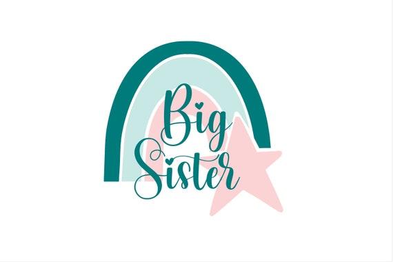 Bügelbild Geschwister Regenbogen Big Sister Middle Sister Brother auch mit Wunschnamen / Jahr Statement Shirt