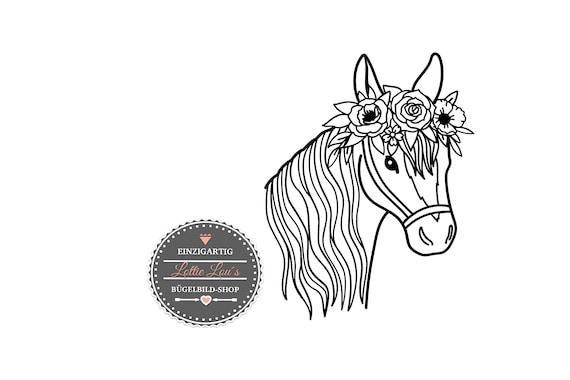 Bügelbild  Pferd auch mit Name