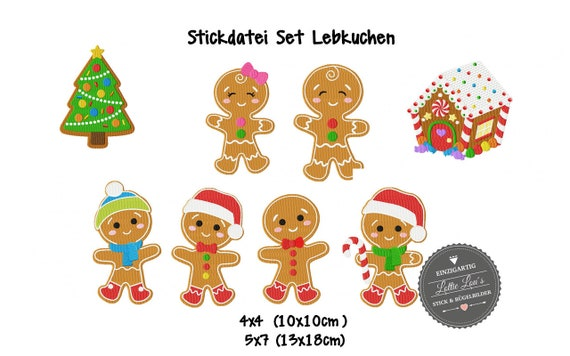 Stick file set Gingerbread Christmas Christmas
