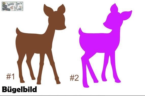 Iron on ironing image Deer Bambi wishing color