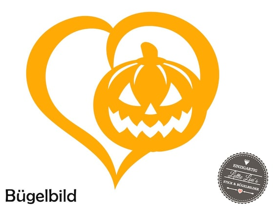 Iron on DIY Halloween jack-o-lantern pumpkin Iron on appliqué glitter flock effect Flex