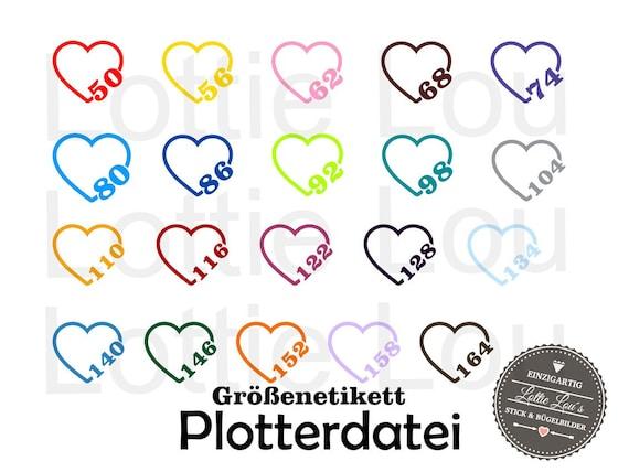 Plotter SVG size label label Heart Kids