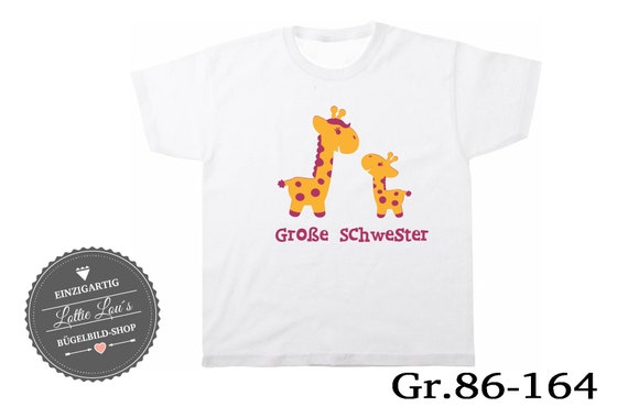 T-shirt/body Big sister Giraffe