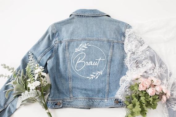 Bügelbild  Bride Braut  mit Wunschnamen &   Datum Statement Shirt
