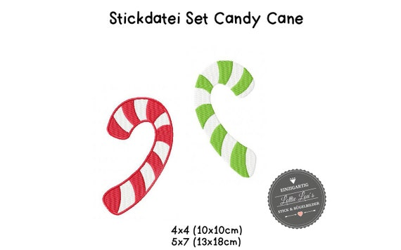 Embroidery file candy Cane Cane Christmas