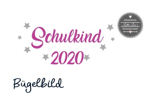 Bügelbild  Schulkind 2020  auch . für Schultüte