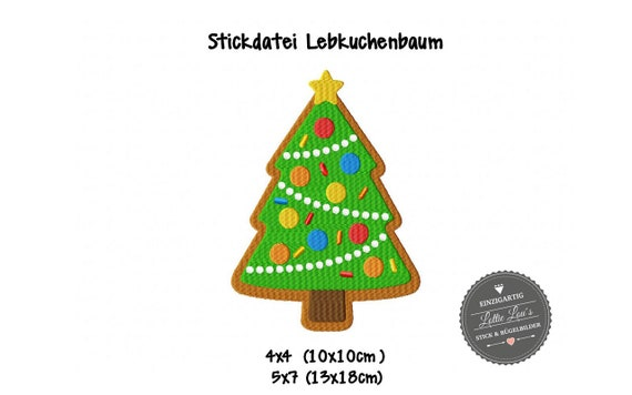 Embroidery file Gingerbread Tree Christmas Christmas