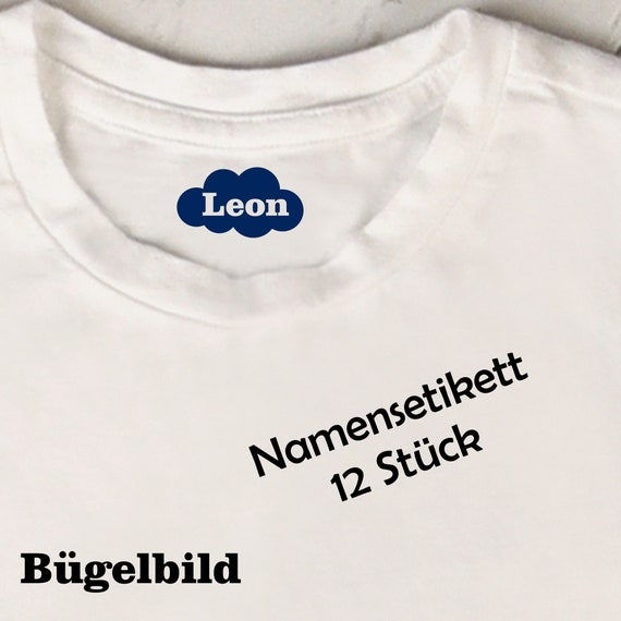 Iron on size label Namenstikett Cloud 12 pieces of ironing