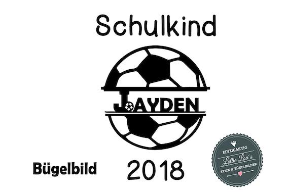 Iron on ironing school child 2018 Football