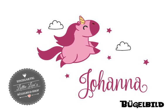 Iron on iron-on-the-unicorn unicorn with wish name