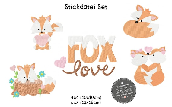 Embroidery file Set Foxy Love Fox Love