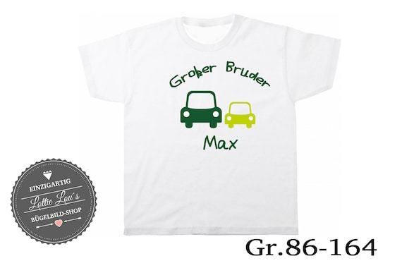 Iron on T-shirt Big Brother car with wish name