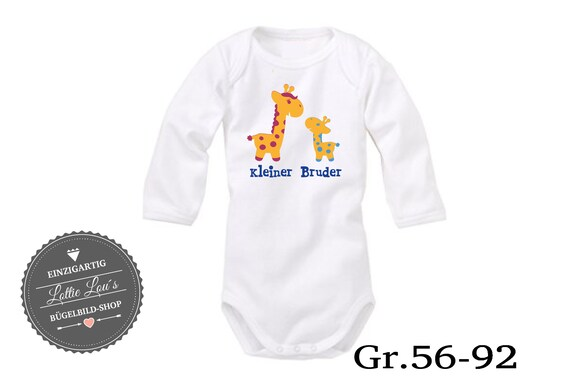 Iron on T-shirt/body little brother Giraffe