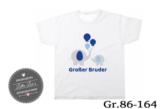 T-shirt Big Brother elephant with balloon