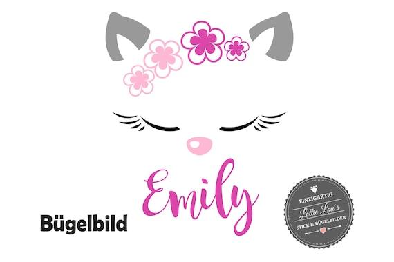 Personalized ironing image cat cat Kitten kitten with wishful in glitter Flock effect flex insurgent DIY