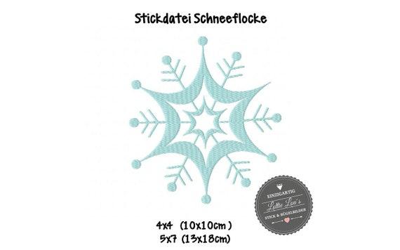 Embroidery file WeihnachtenSchneeflocke Snow Christmas
