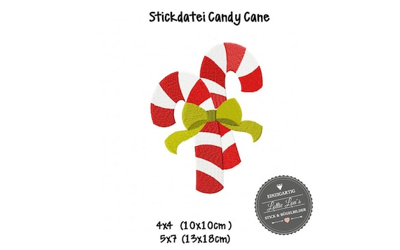 Embroidery file Christmas Candy Cane Christmas