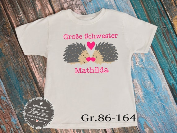 T-shirt Body * Big sister * Hedgehog