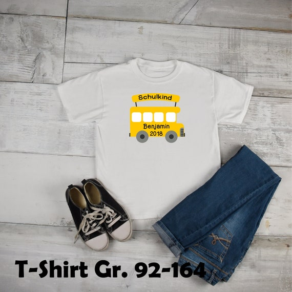 Iron-On Custom DIY Schoolbus School Kid First Day of School